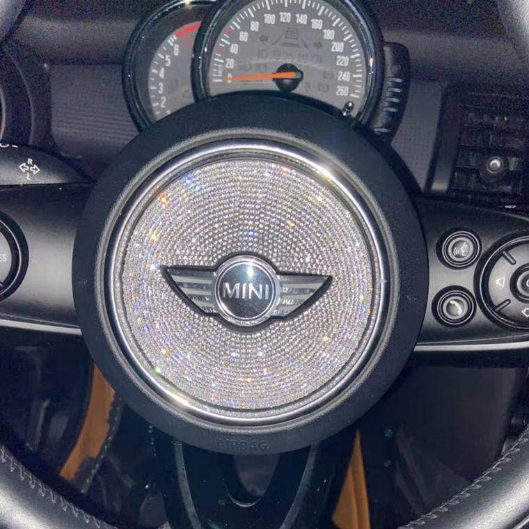 BMW寶馬迷你方向盤裝飾鉆MINI Cooper F56 F55 方向盤標車內飾車貼鉆