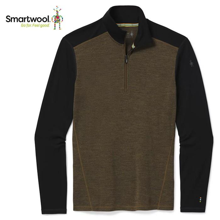 【Smartwool 美國】Merino 250 保暖長袖拉鍊T 保暖運動上衣 男款 橄綠/黑(SW016356E54)