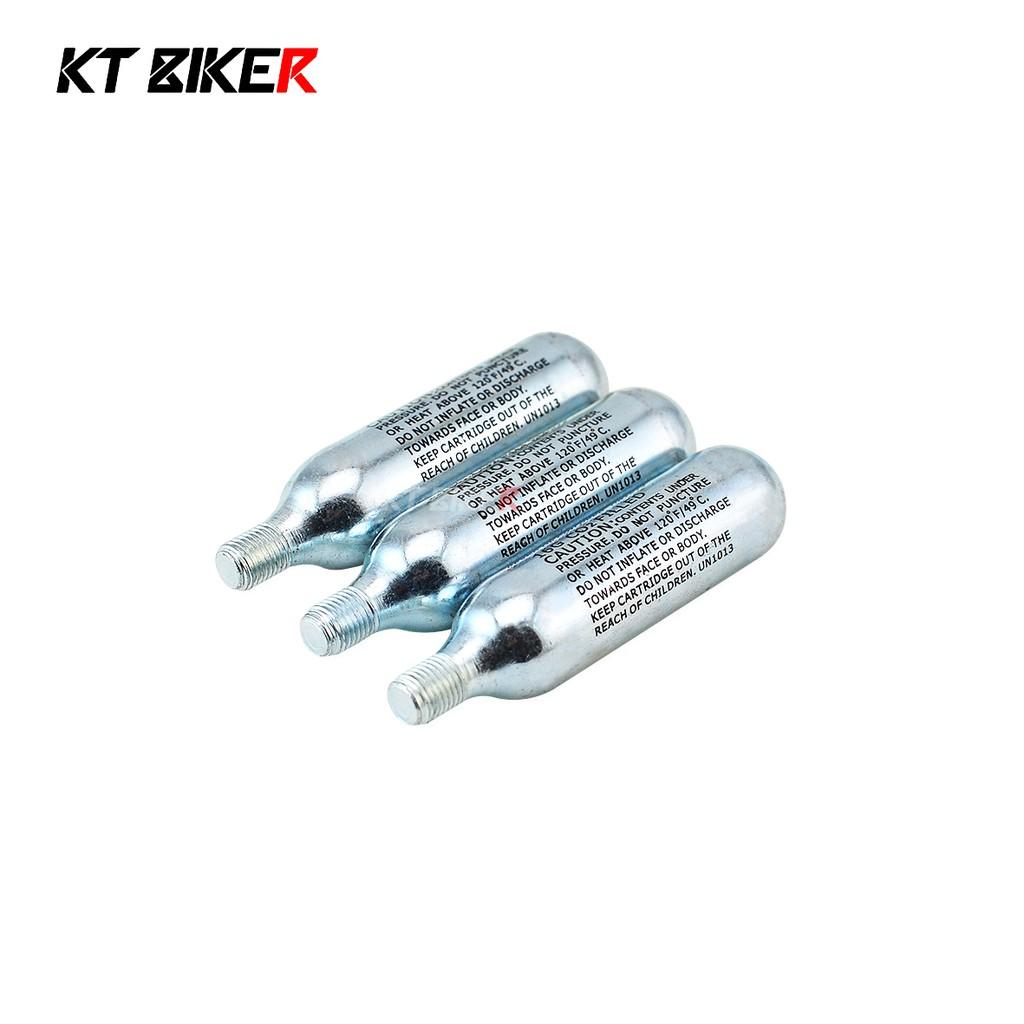 【KT BIKER】 補胎包CO2氣瓶 有牙 CO2 鋼瓶 氣瓶 補胎工具組 環島 機車補胎工具組 自行車補胎包