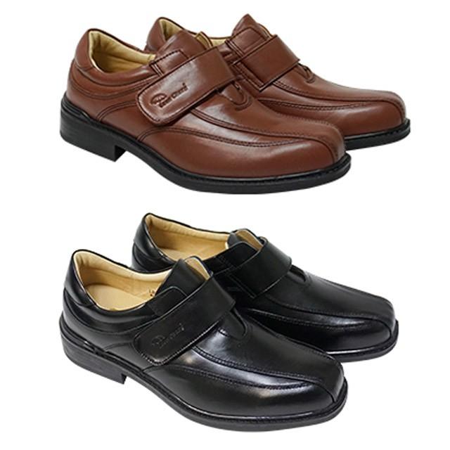 鞋鞋俱樂部 Leon Chang 雨傘牌 真皮 男仕 休閒皮鞋 咖  黑  170-LBG8709