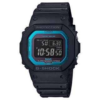 CASIO卡西歐G-SHOCK (電波錶) 橡膠錶帶 太陽能 防水200米(藍框) GW-B5600-2