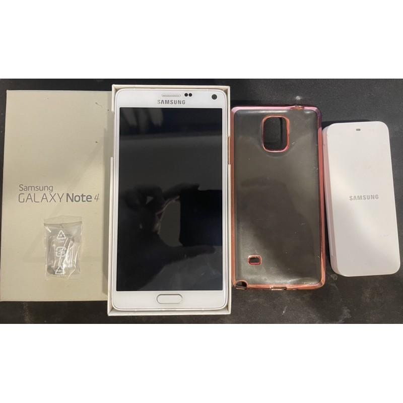 三星Samsung Galaxy Note 4_n910u白色中古二手機9成新 4g大螢幕孝親備用美機