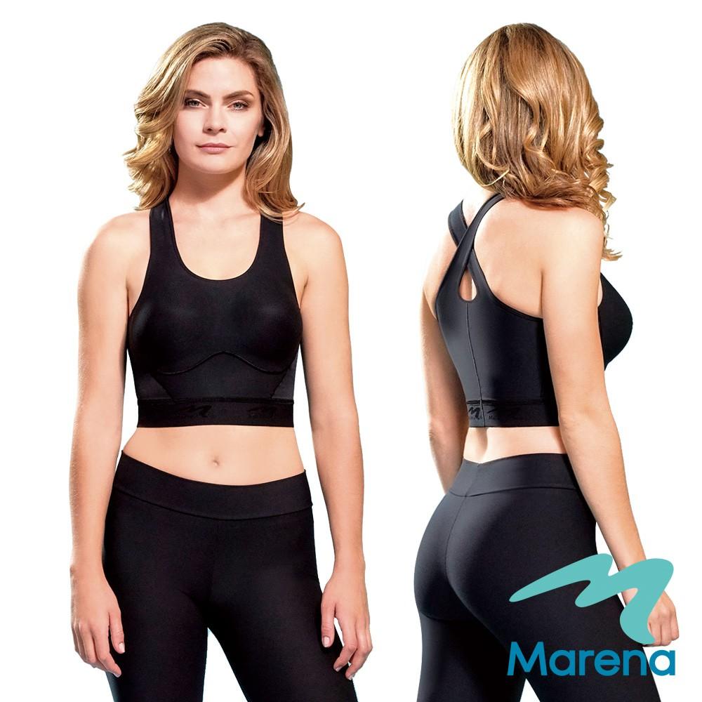 MARENA 美國原裝 呼吸感無鋼圈機能抗菌bra內衣(黑色)