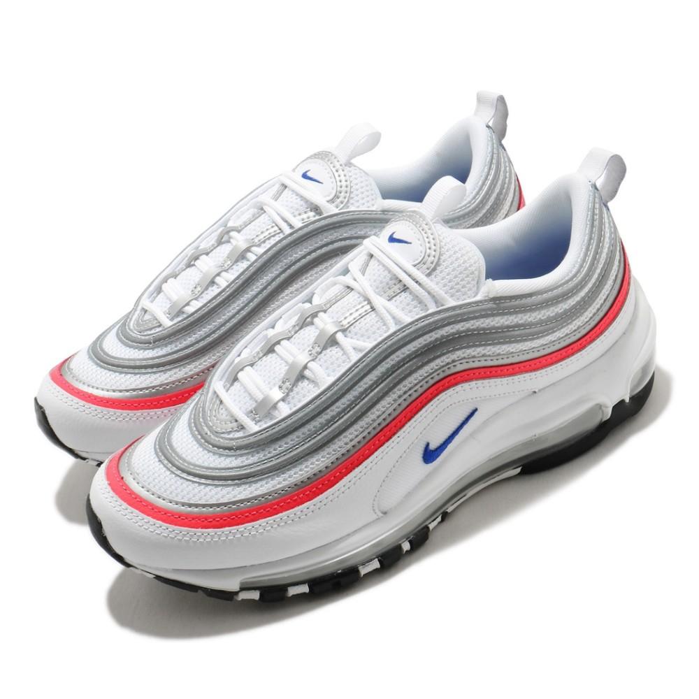 NIKE Air Max 97 女款 白紅銀 休閒鞋 經典款 氣墊 避震反光 CZ6087101 Sneakers542
