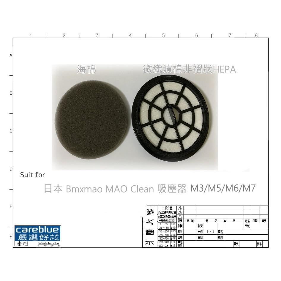 MIF 濾網 + 濾棉 FOR 日本 Bmxmao MAO Clean 吸塵器 M3 M5 M6 M7 拖地 耗材