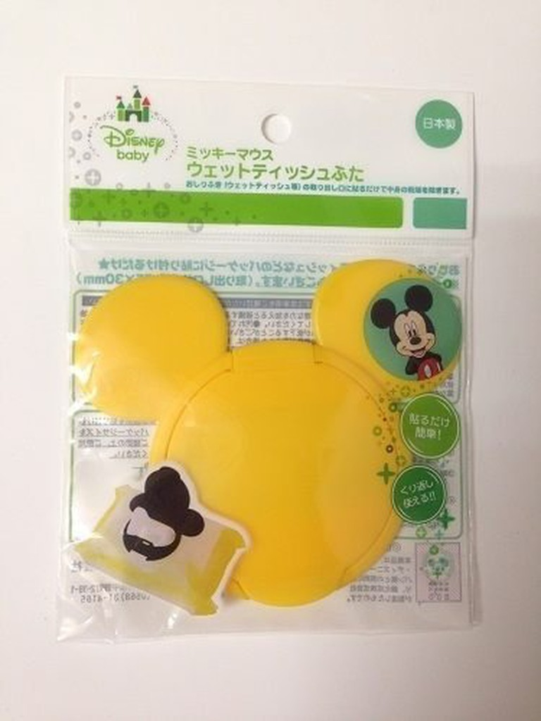 日本迪士尼造型濕紙巾盒蓋-黃米奇