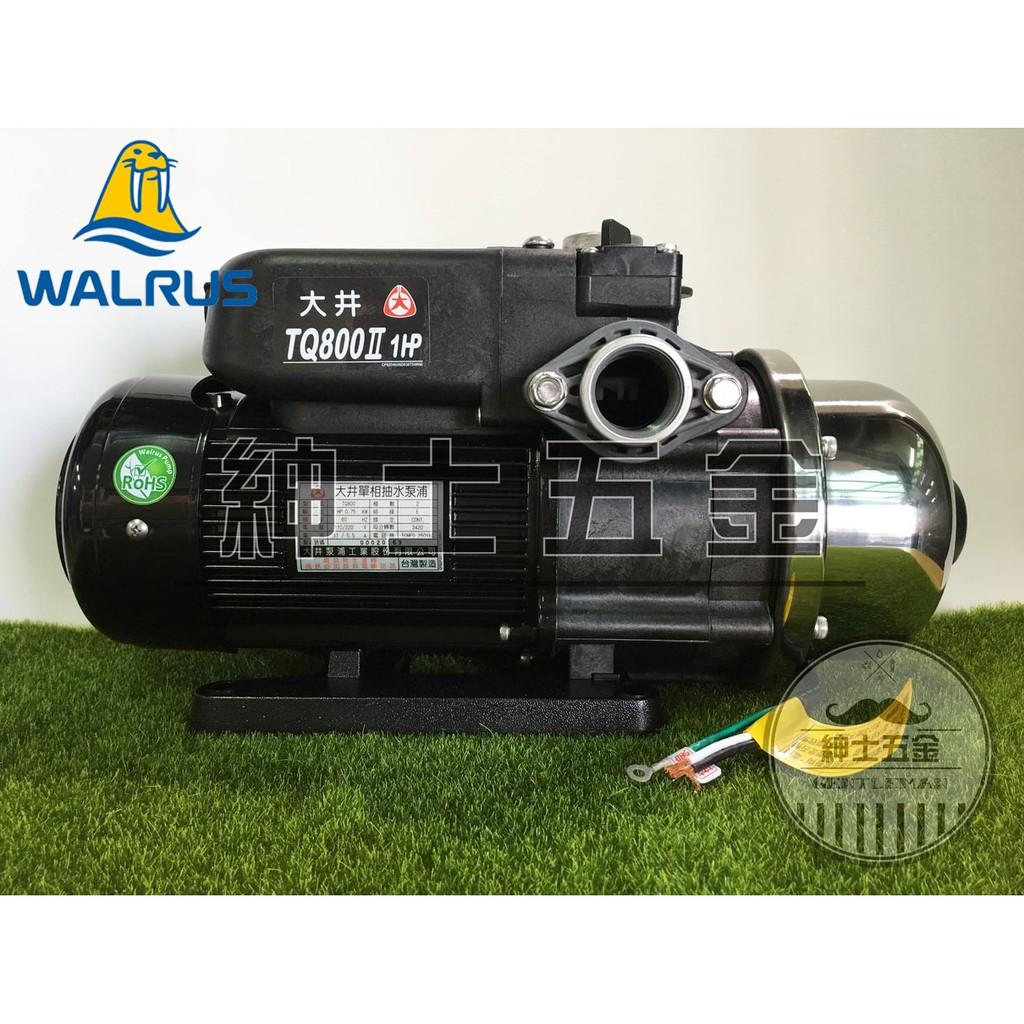 【紳士五金 】❤️現貨大清倉❤️ TQ800B 抗菌款 1HP 大井泵浦WALRUS 電子穩壓加壓馬達 TQ800