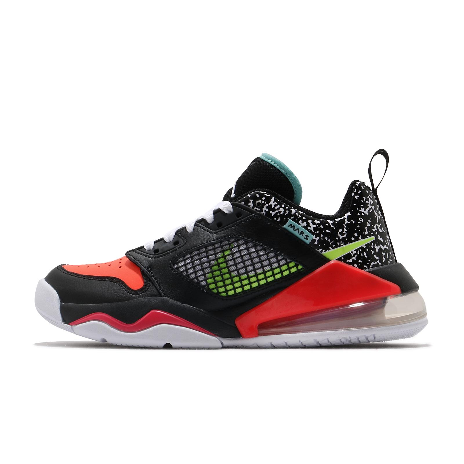 Nike 休閒鞋 Jordan Mars 270 Low GS 黑 紅 氣墊 喬丹 女鞋【ACS】 CK2504-078
