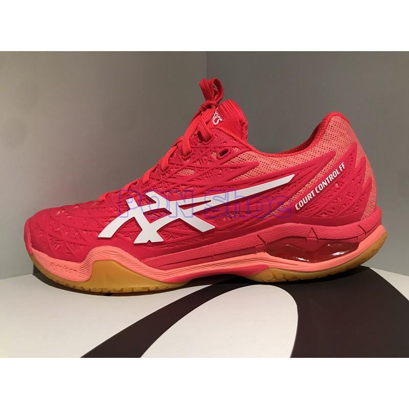 台灣公司貨 ASICS 亞瑟士 COURT CONTROL FF 頂級女羽球鞋 紅 1072A019-702