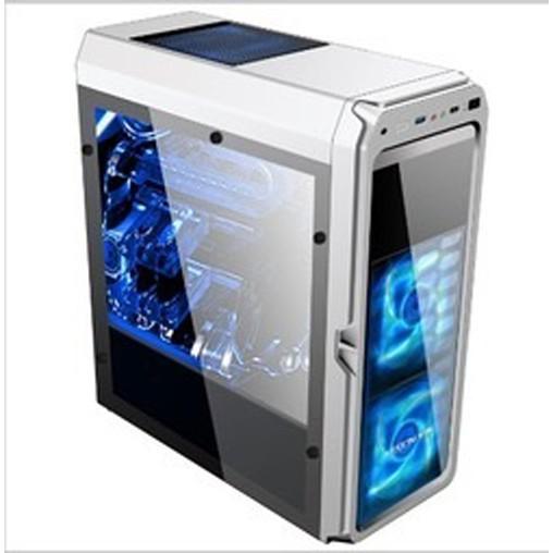 電競大A咖系列 超值戰鬥機 至睿VISION X6 側透背線電腦機殼