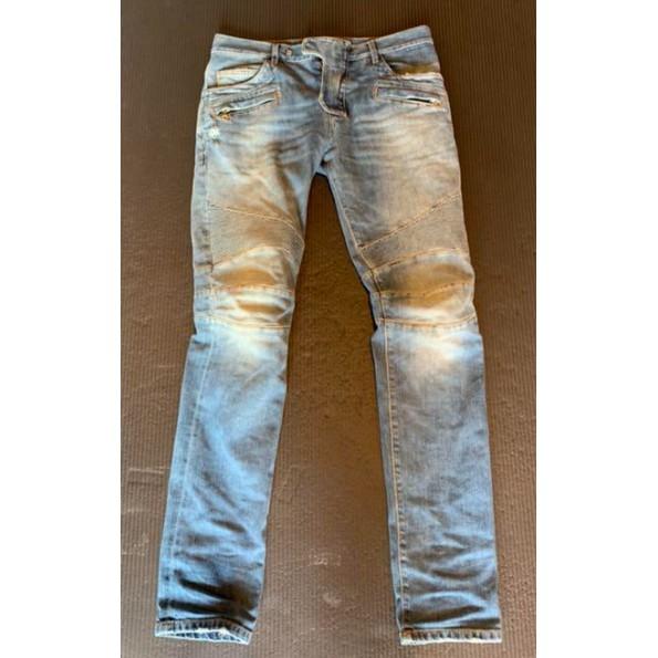 Balmain homme 藍水洗機車牛仔褲