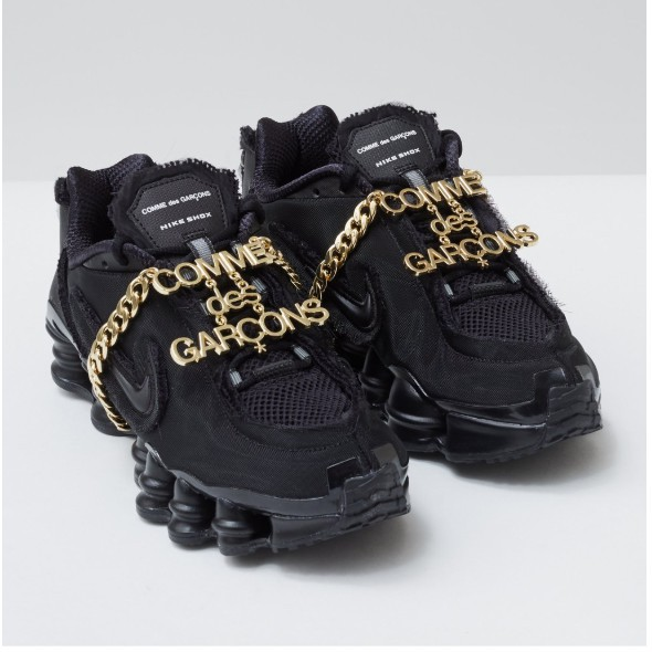 全新 Comme des Garçons 川久保玲 Nike Shox TL 黑 金屬鏈 CDG 彈簧鞋