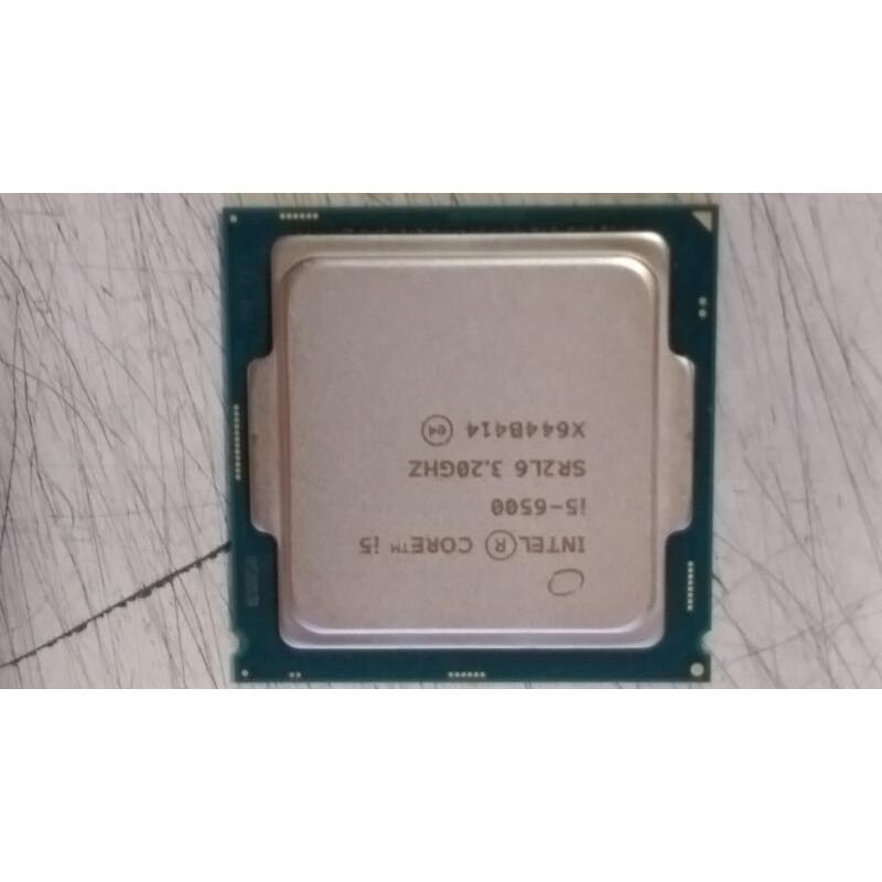 Intel Core i5-6500 1151腳位 四核心 二手良品 無風扇 售$2600元