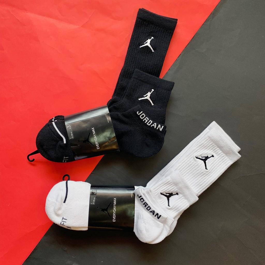 NIKE JORDAN AJ SOCK 黑白 籃球襪 高中低筒 3雙組 飛人 踝襪 SX6274-010
