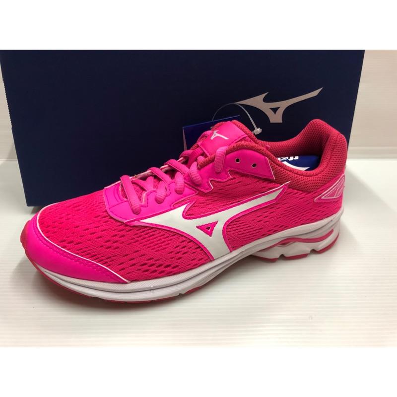 當天寄出 現貨 Mizuno 美津濃 WAVE RIDER 22 Jr 大童鞋 女鞋 K1GC183307