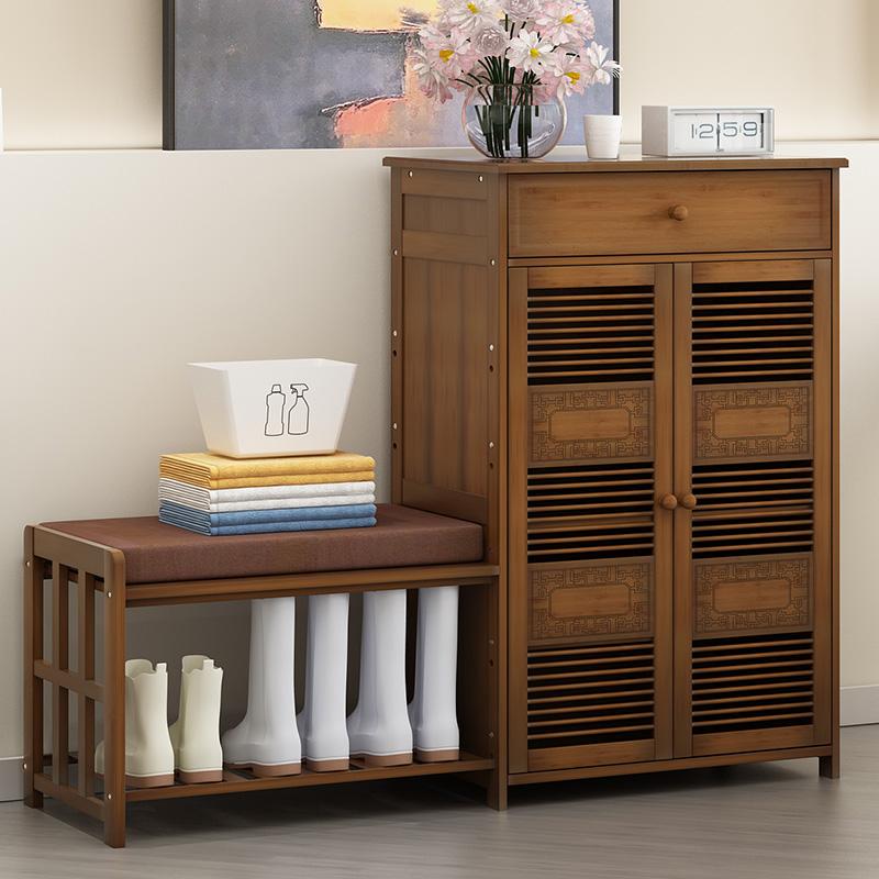 鞋櫃家用門口實木製多功能防塵大容量簡約進門可坐換鞋凳鞋櫃現代