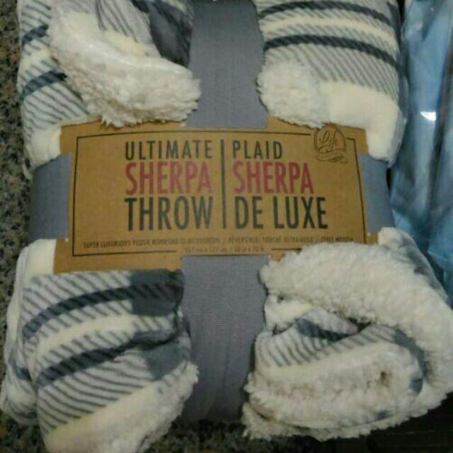 厚絨保暖隨意毯Life Comfort Ultimate Sherpa Throw好市多ks舒適雙人毯 雙面毯