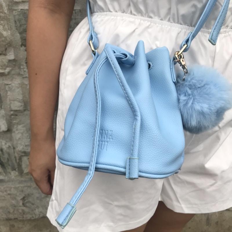 全新✨ANNA SUI 天空藍水桶包