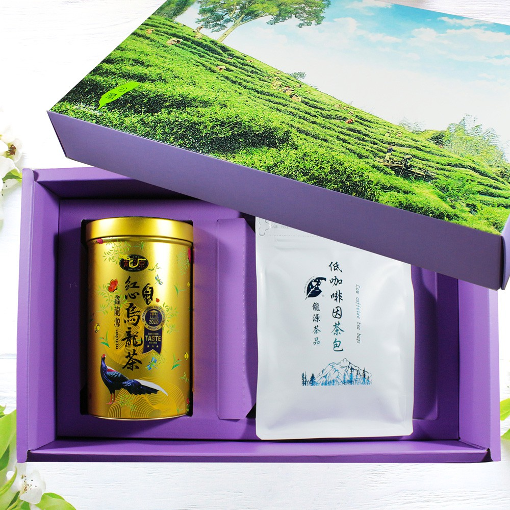 【龍源茶品】低咖啡因純淨茶包禮盒組-(低咖啡因茶包2g*30包 +iTQi立體茶包20包入(2g*20包)-春茶-可冷泡