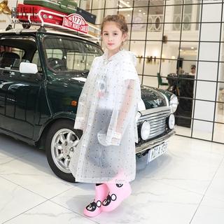 雨先生 兒童可背包雨衣 EVA開衫加厚 書包位設計 加大帽檐 漏鬥幾何印花