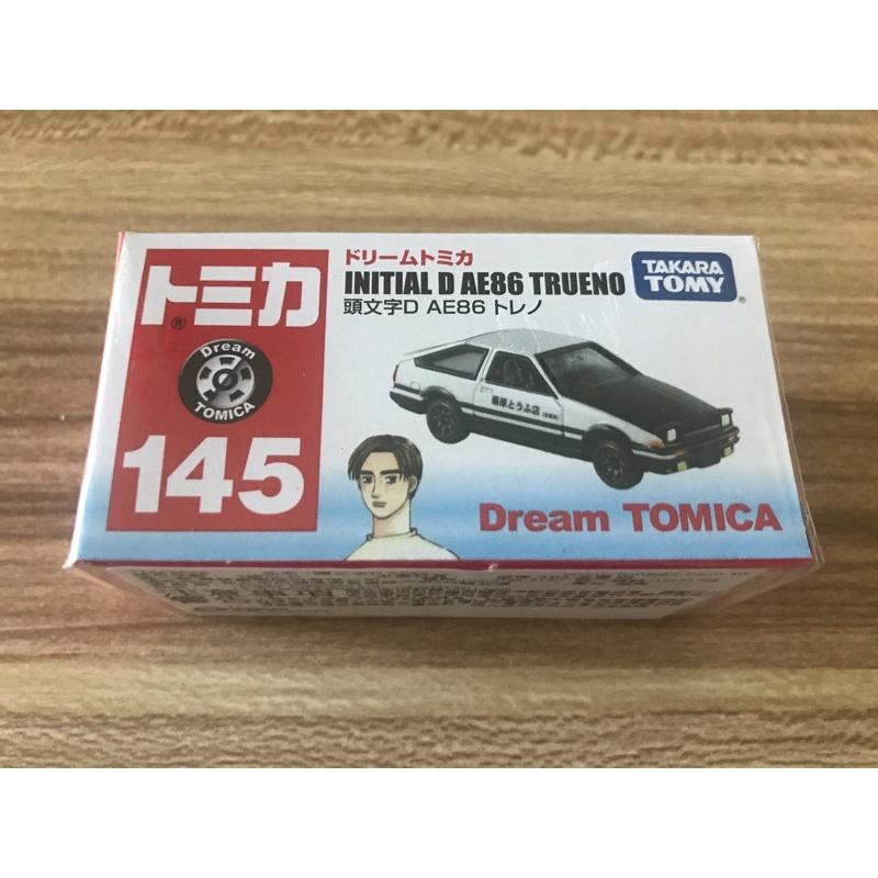 Tomica トミカ 多美卡 no 145 頭文字D Ae86 藤原拓海
