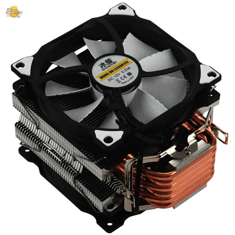 SNOWMAN M-T6 4PIN CPU Cooler Master 6 Heatpipe Double Fans 1