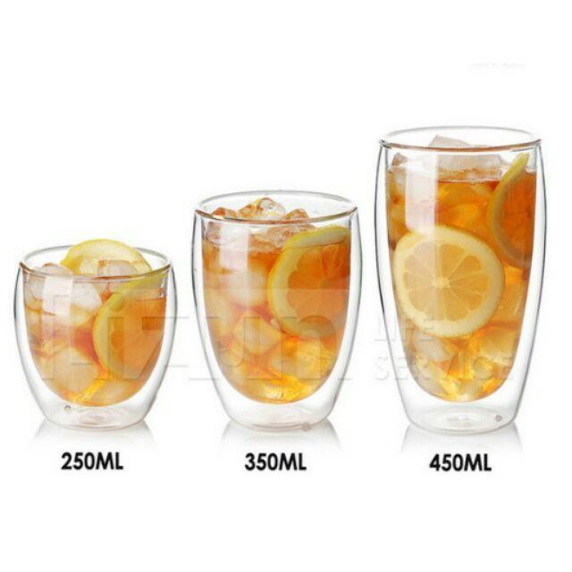 【幸福小舖】「現貨」雙層玻璃杯 耐熱手工玻璃杯 蛋形雙層杯 保溫隔熱 辦公居家用水杯 雙保溫隔熱杯