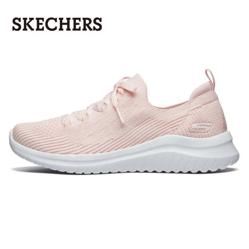 【萌量不足】Skechers斯凱奇女鞋一腳蹬襪套休閒鞋 柔軟針織網布運動鞋13356