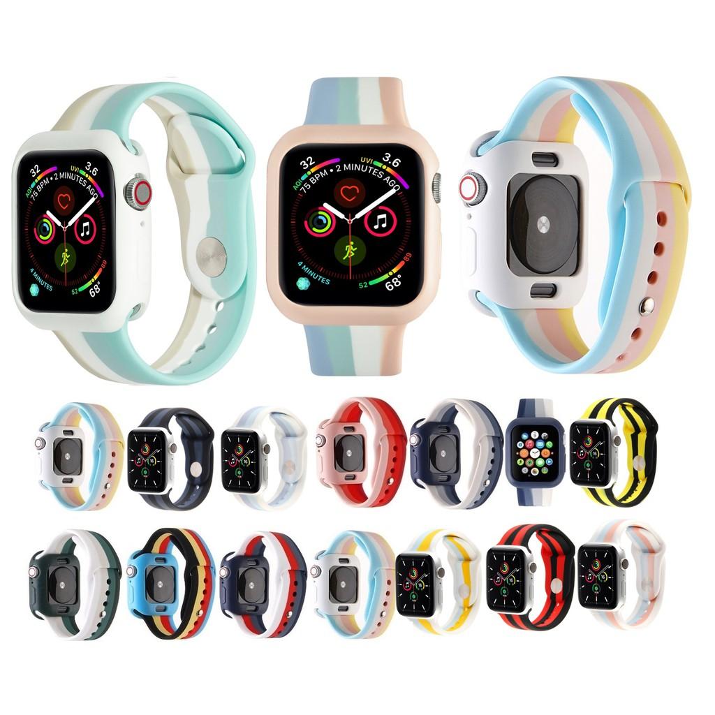 新款彩虹蘋果手錶錶殼 + Apple Watch 錶帶 Iwatch 系列 6 5 4 3 2 1, Apple Wat