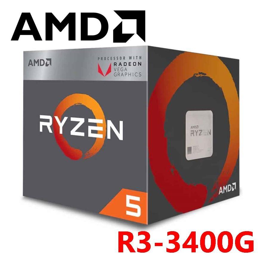 AMD Ryzen 5 3400G 盒裝 代理貨 R5 中央處理器