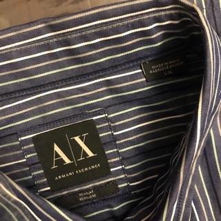 【正品】全新/  Armani Exchange 亞曼尼 條紋長袖襯衫 台北市
