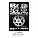 1/64 改裝輪胎 BNDS BC64044 合金輪殼 輪罩蝕刻片 無紋輪胎 4顆裝 模型車輪圈 車友禮物