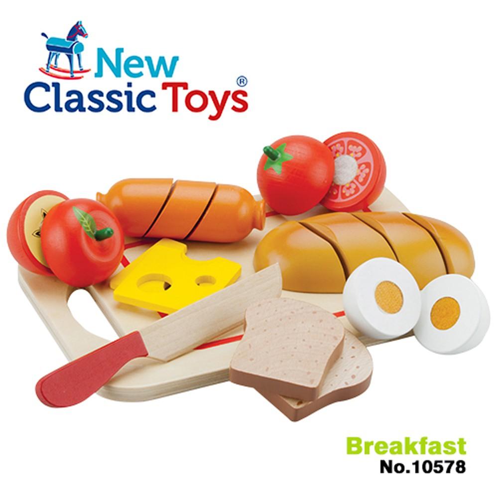 [ 免運 ] 荷蘭 New Classic Toys 木製廚具 - 輕食早餐切切樂10件組