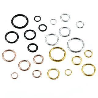 100件/ 批不銹鋼直通跳線環,直接用於4/ 5/ 6毫米開口環連接器,用於DIY珠寶發現
