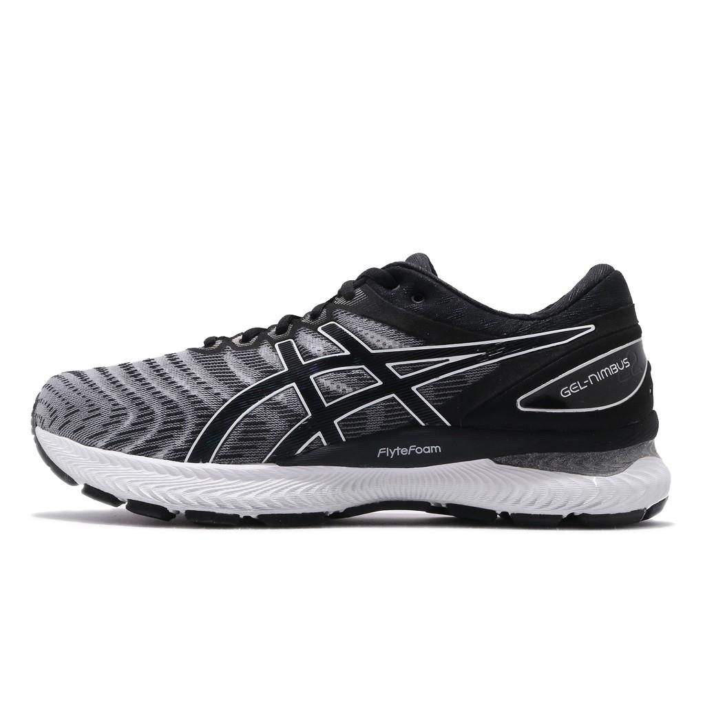 Asics 慢跑鞋 Gel-Nimbus 22 4E 超寬楦 黑 白 男鞋 1011A682-100 亞瑟士 【ACS】