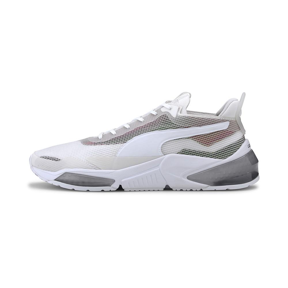 PUMA-LQDCELL Optic XI Iridescent 男女訓練運動鞋-白色(19385202)