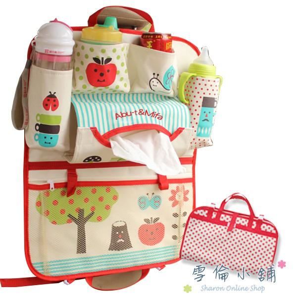 車用椅背收納袋-置物袋汽車雜物袋分隔袋 雪倫小舖【AM6522】