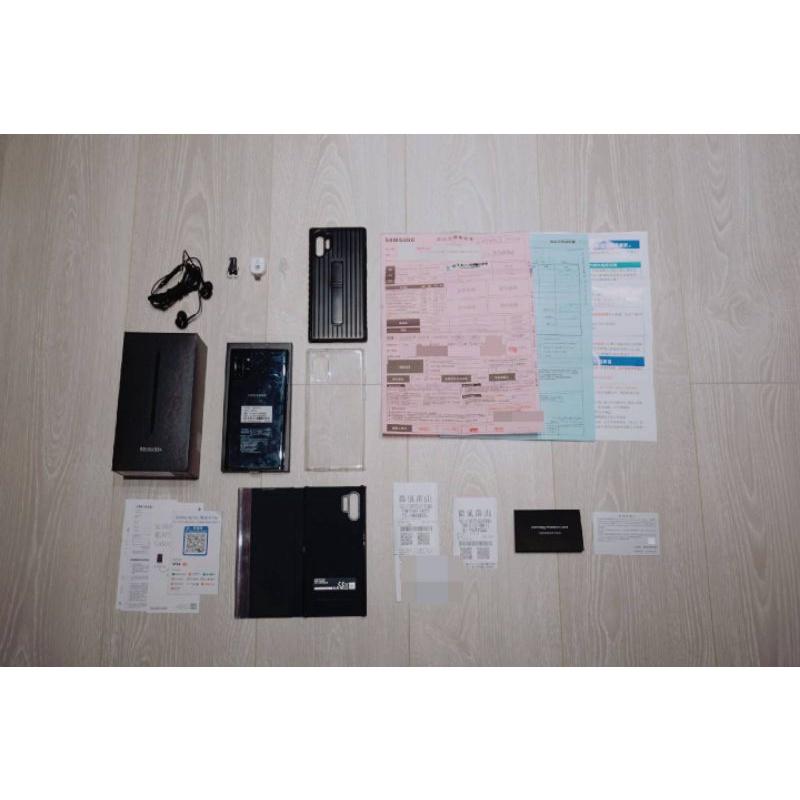 台灣公司貨 雙卡雙待 三星 SAMSUNG Galaxy Note10+ (12GB/256GB) 光環黑 99 成新
