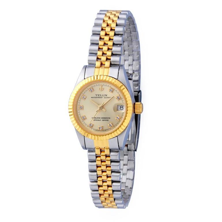 [缺貨中]台灣品牌手錶腕錶【TELUX鐵力士】尊爵系列經典女腕錶手錶26mm-另有男款台灣製造8903TG-G02