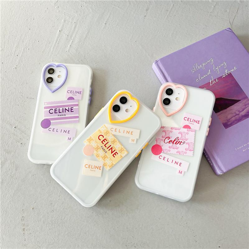 Jingqinsi Jingqinsi New Celine Love Heart Candy 鏡頭手機殼, 適用於 I