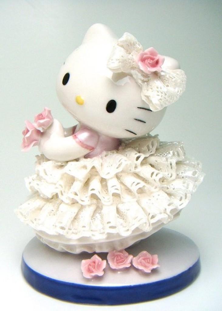㊣五號倉庫㊣ 2012年 Sanrio Hello Kitty 手工製作 陶瓷娃娃 (白) Made in Japan