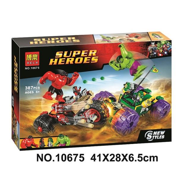 【積木班長】博樂 10675 綠浩克對決紅浩克 復仇者 超級英雄 漫威 浩克 /相容 樂高 LEGO 積木