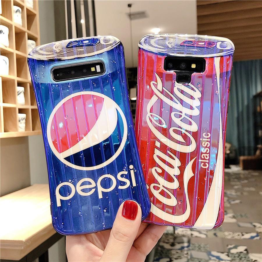 三星Note20 10小蠻腰可口可樂S10+藍光手機殼S9+軟殼S8plus個性潮流A42 A52 A32創意防摔殼