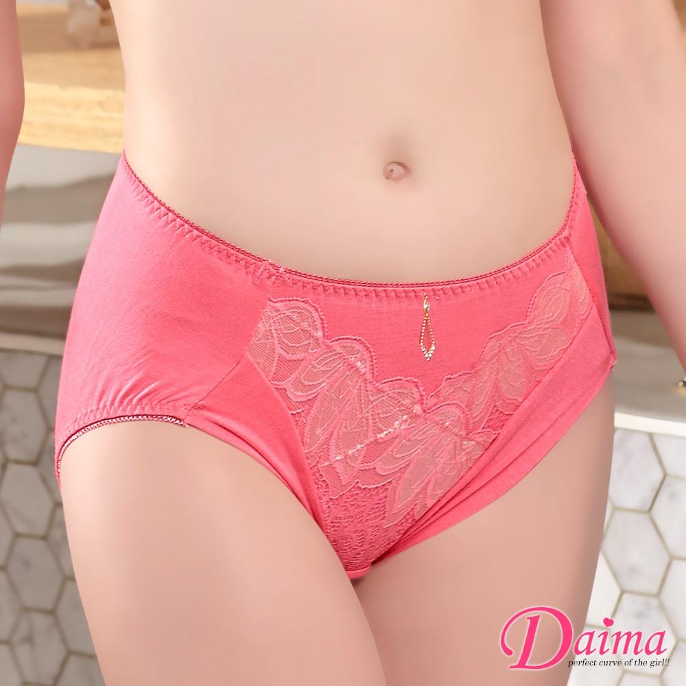 【黛瑪Daima】FREE典雅盛宴性感雙色緹花蕾絲內褲 粉 9171