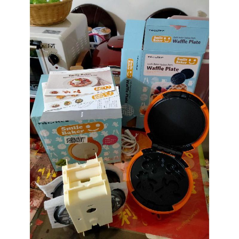 二手#日本Recolte麗克特 鬆餅機 #一機+三烤盤#包裝完整