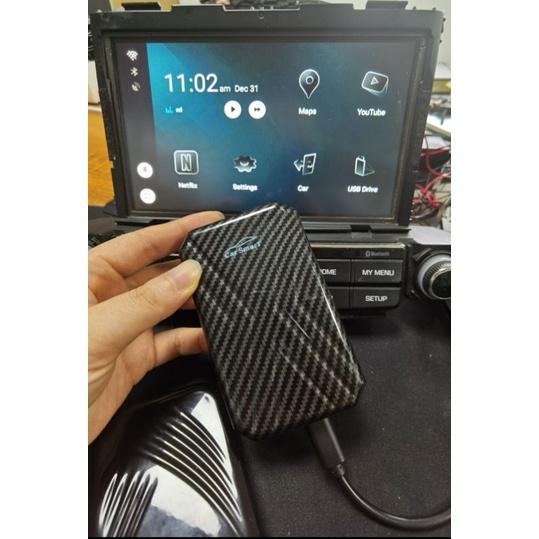 現貨AI Box盒子原車Carplay升級安卓9.0車機 內建無線carplay可導航可行進間看影片聽音樂 手機鏡像輸出