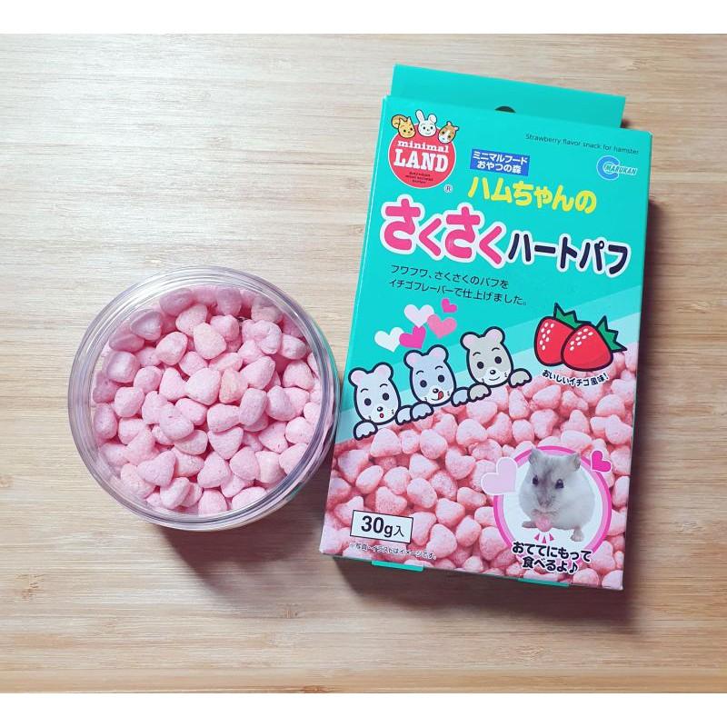 《倉鼠糧》日本Marukan馬卡草莓愛心泡芙10顆 分裝