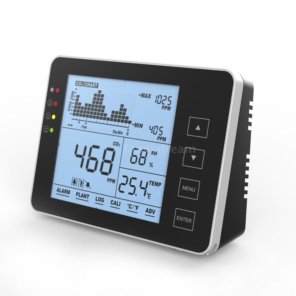 Fany 室內便攜式 Co2 探測器多功能家用空氣檢測儀智能空氣質量分析儀家用空氣污染監測儀