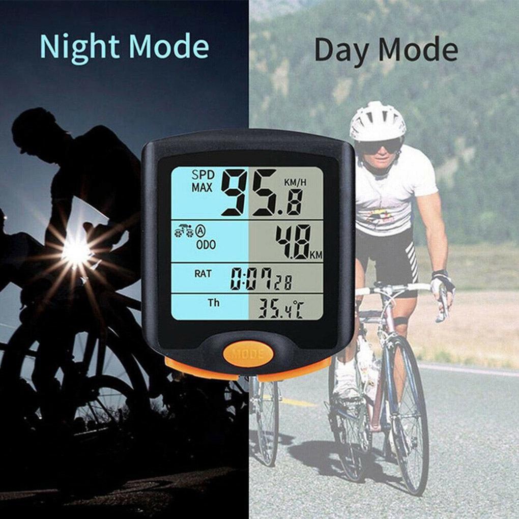 Digital Bike Computer LCD Screen Display Cycling Speedometer