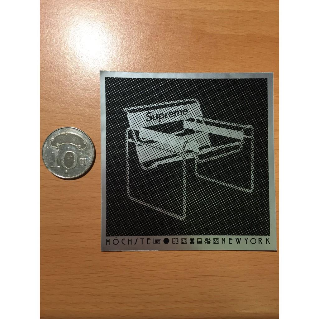 Supreme Chair 椅子 亮銀色 貼紙 Sticker